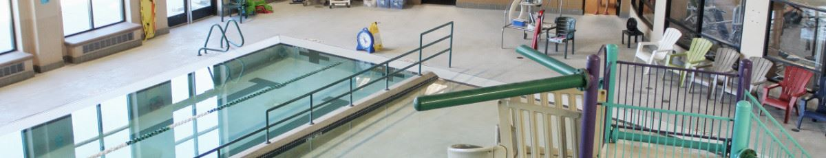 Looking down on Buchanan Rec Center pool